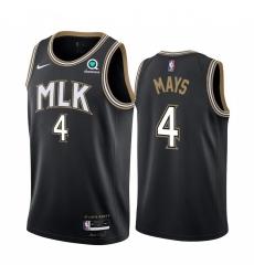 Men Nike Atlanta Hawks 4 Skylar Mays Black NBA Swingman 2020 21 City Edition Jersey