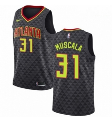Mens Nike Atlanta Hawks 31 Mike Muscala Authentic Black Road NBA Jersey Icon Edition