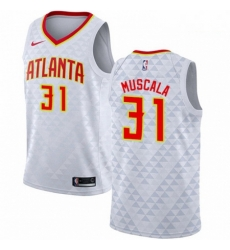 Mens Nike Atlanta Hawks 31 Mike Muscala Authentic White NBA Jersey Association Edition