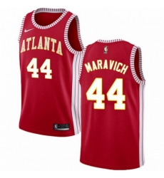Mens Nike Atlanta Hawks 44 Pete Maravich Authentic Red NBA Jersey Statement Edition