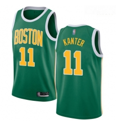 Celtics #11 Enes Kanter Green Basketball Swingman Earned Edition Jersey