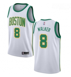 Celtics #8 Kemba Walker White Basketball Swingman City Edition 2018 19 Jersey