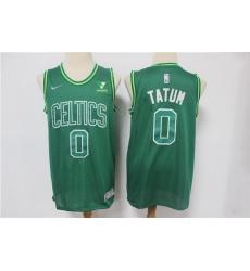 Men Boston Celtics 0 Jayson Tatum Green 2021 Earned Edition Swingman Jersey