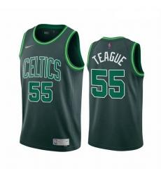 Men Boston Celtics 55 Jeff Teague Green NBA Swingman 2020 21 Earned Edition Jersey