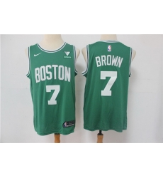 Men Boston Celtics Jaylen Brown 7 Green NBA New Nike Swingman jersey