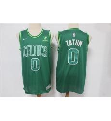 Men Boston Celtics Jayson Tatum 0 Green NBA New Swinman jersey