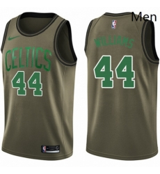 Mens Nike Boston Celtics 44 Robert Williams Swingman Green Salute to Service NBA Jersey