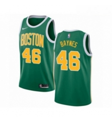 Mens Nike Boston Celtics 46 Aron Baynes Green Swingman Jersey Earned Edition