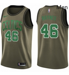 Mens Nike Boston Celtics 46 Aron Baynes Swingman Green Salute to Service NBA Jersey