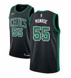 Mens Nike Boston Celtics 55 Greg Monroe Swingman Black NBA Jersey Statement Edition