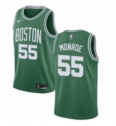 Mens Nike Boston Celtics 55 Greg Monroe Swingman GreenWhite No Road NBA Jersey Icon Edition