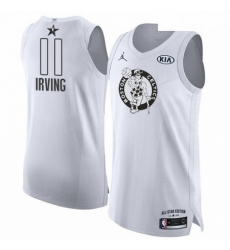 Mens Nike Jordan Boston Celtics 11 Kyrie Irving Authentic White 2018 All Star Game NBA Jersey