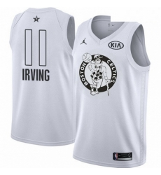 Mens Nike Jordan Boston Celtics 11 Kyrie Irving Swingman White 2018 All Star Game NBA Jersey
