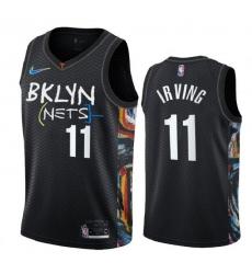 Men Brooklyn Nets 11 Kevin Irving 2020 New City Edition NBA Jersey