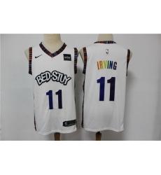 Men Brooklyn Nets 11 Kyrie Irving White 2020 City Edition Gradient Font Nike Swingman Jersey
