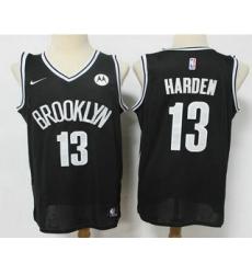 Men Brooklyn Nets 13 James Harden 2021 Black Swingman Stitched NBA Jersey With The NEW Sponsor Logo