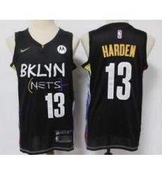 Men Brooklyn Nets 13 James Harden Black 2021 City Edition Nike Swingman Jersey