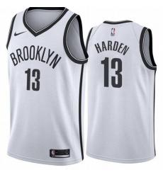 Men Brooklyn Nets 13 James Harden White 2021 Nike Swingman Jersey