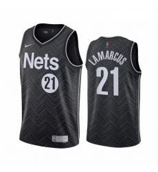 Men Brooklyn Nets 21 LaMarcus Aldridge Black NBA Swingman 2020 21 Earned Edition Jersey
