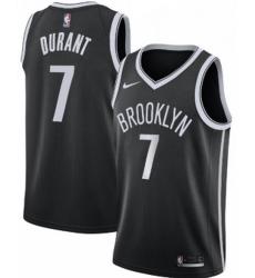 Men Brooklyn Nets #7 Kevin Durant Nike Swingman Jersey