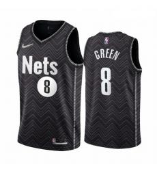 Men Brooklyn Nets 8 Jeff Green Black NBA Swingman 2020 21 Earned Edition Jersey