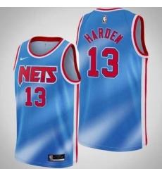 Men Brooklyn Nets James Harden Blue Jersey