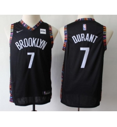 Men Nets 7 Kevin Durant City Edition NBA Basketball Jersey