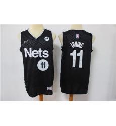 Men Nike Brooklyn Nets Kyrie Irving 11 Black NBA New grey playoff bonus jersey
