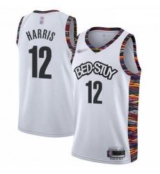 Nets 12 Joe Harris White Basketball Swingman City Edition 2019 20 Jersey