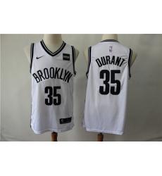 Nets 35 Kevin Durant White Nike Swingman Jersey