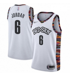 Nets 6 DeAndre Jordan White Basketball Swingman City Edition 2019 20 Jersey