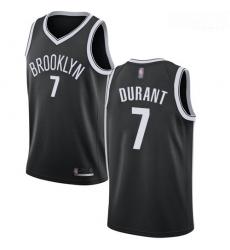 Nets #7 Kevin Durant Black Basketball Swingman Icon Edition Jersey