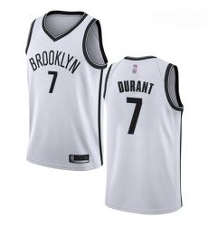 Nets #7 Kevin Durant White Basketball Swingman Association Edition Jersey