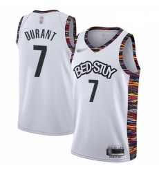 Nets 7 Kevin Durant White Basketball Swingman City Edition 2019 20 Jersey
