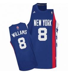 Nets 8 Deron Williams Blue ABA Hardwood Classic Stitched NBA Jersey