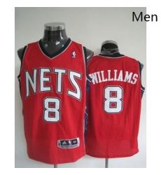 Revolution 30 Nets 8 Deron Williams Red Stitched NBA Jersey