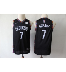Youth Nets 7 Kevin Durant Black Youth City Edition Nike Swingman Jersey