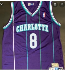Charlotte 8 Kobe Bryant Purple Throwback Jersey