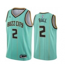 Hornets 2 Ball Men NBA City Edition Jersey