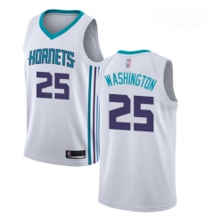 Hornets #25 PJ Washington White Basketball Jordan Swingman Association Edition Jersey