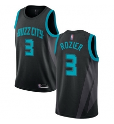 Hornets  3 Terry Rozier Black Basketball Jordan Swingman City Edition 2018 19 Jersey