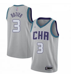 Hornets 3 Terry Rozier Gray Basketball Jordan Swingman City Edition 2019 20 Jersey