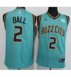 Men Charlotte Hornets 2 LaMelo Ball Teal 2020 21 City Edition Swingman Jersey
