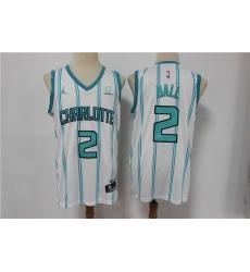 Men Charlotte Hornets 2 LaMelo Ball White 2021 Swingman Jersey