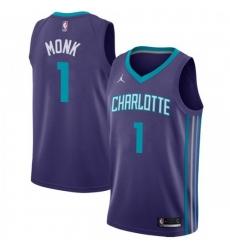 Men Nike Charlotte Hornets 1 Malik Monk Purple NBA Jordan Swingman Statement Edition Jersey