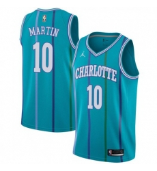 Men Nike Charlotte Hornets 10 Caleb Martin Aqua NBA Jordan Swingman Hardwood Classics Jersey