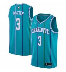 Men Nike Charlotte Hornets 3 Terry Rozier Aqua NBA Jordan Swingman Hardwood Classics Jersey