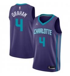Men Nike Charlotte Hornets 4 Devonte 27 Graham Purple NBA Jordan Swingman Statement Edition Jersey