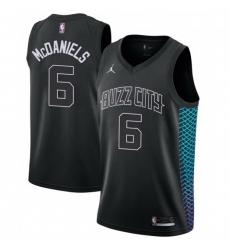 Men Nike Charlotte Hornets 6 Jalen McDaniels Black NBA Jordan Swingman City Edition Jersey