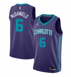Men Nike Charlotte Hornets 6 Jalen McDaniels Purple NBA Jordan Swingman Statement Edition Jersey